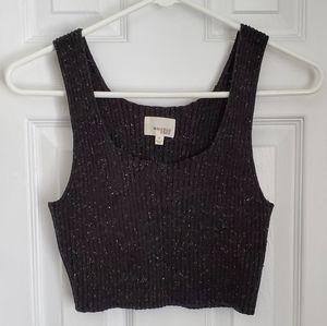 NWOT Wilfred Free Knit Black/ Multi Cropped Tank